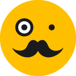old-man-black-face-emoticon-with-mustache-and-one-vintage-circular-eyeglass