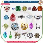Download 30 icons jewelry and decorative stone