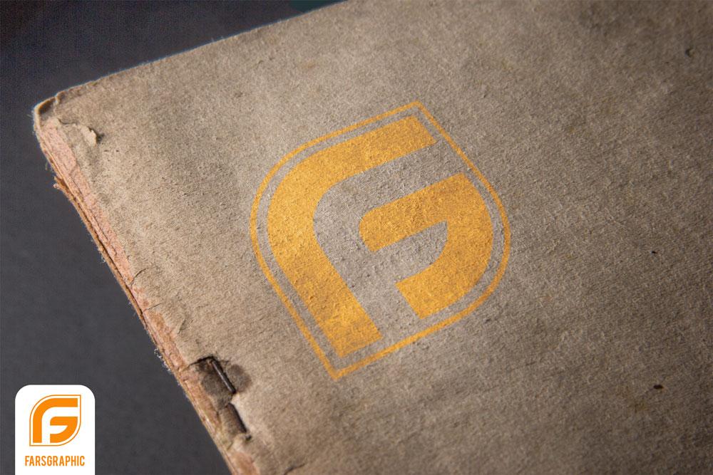 دانلود موکاپ لایه باز لوگو روی جلد کتاب قدیمی