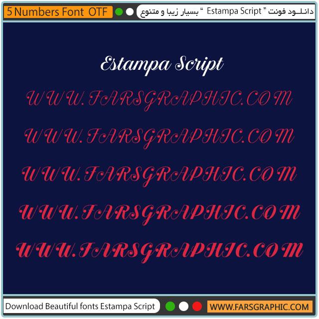 دانلود خانواده فونت Estampa Script بسیار زیبا و متنوع