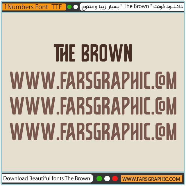 دانلود فونت The Brown بسیار زیبا و متنوع