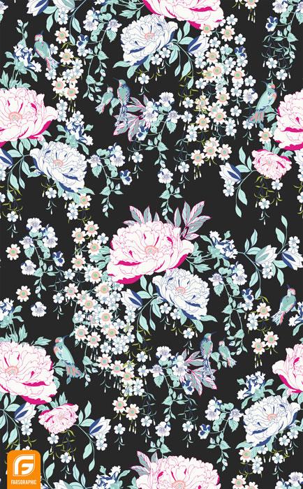 فایل لایه باز گل های تزئینی