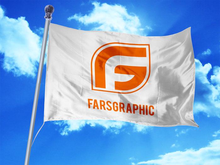 موکاپ پرچم