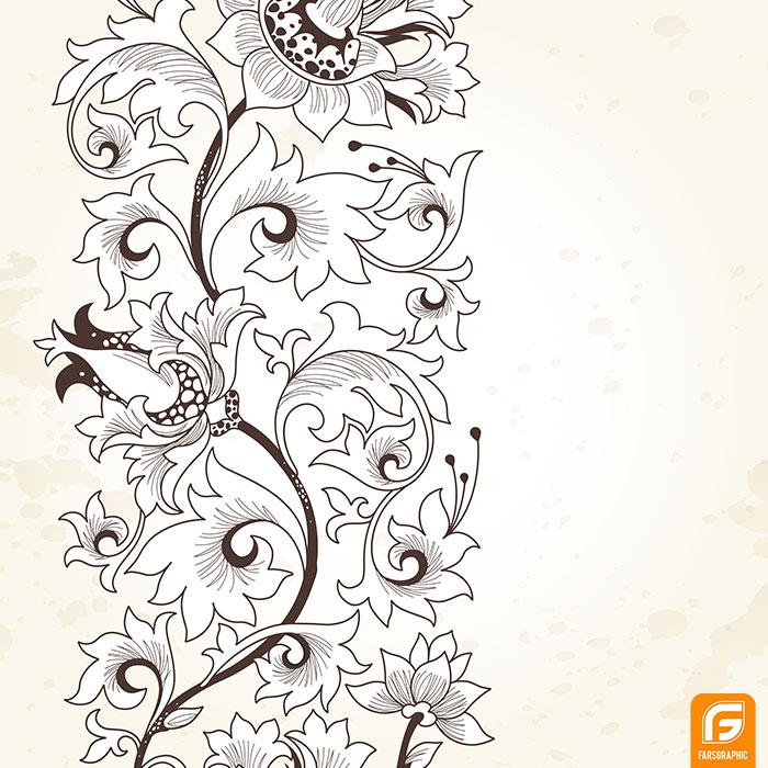 وکتور گل های ریز و اسلیمی