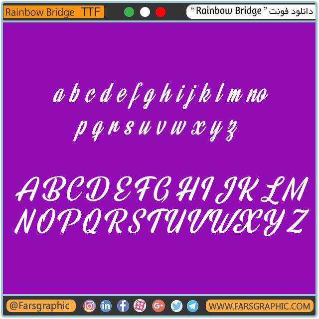 دانلود فونت Rainbow Bridge