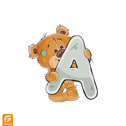 فایل لایه باز مجموعه حروف برای تولد