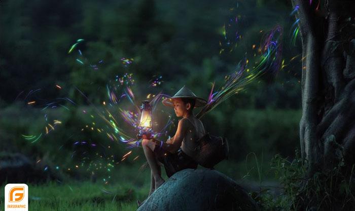 پوشش نور های جادویی