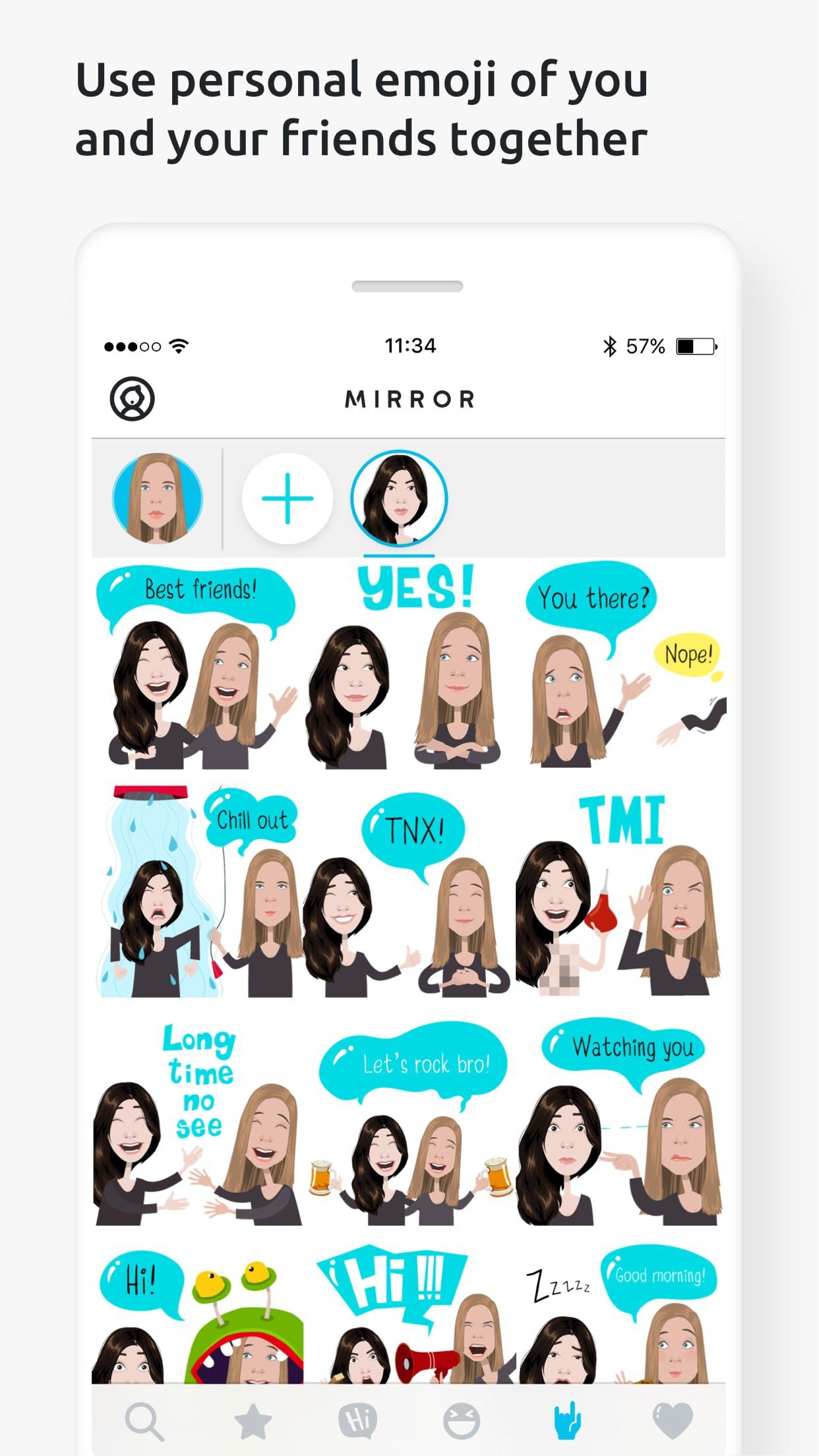 دانلود برنامه جذاب Mirror Emoji Keyboard