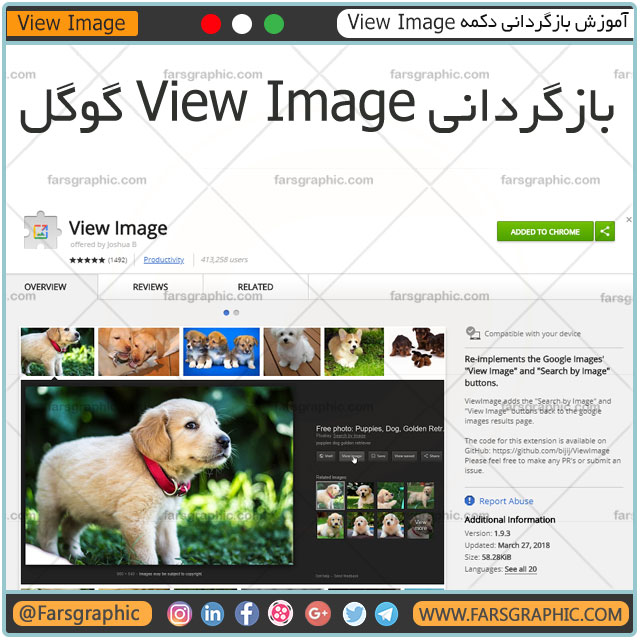 آموزش بازگردانی دکمه View Image در سرچ گوگل