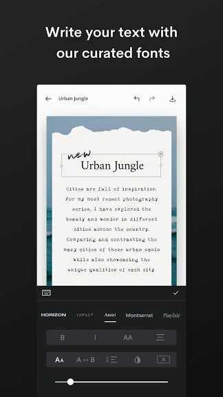 دانلود اپلیکیشن Unfold Create Stories