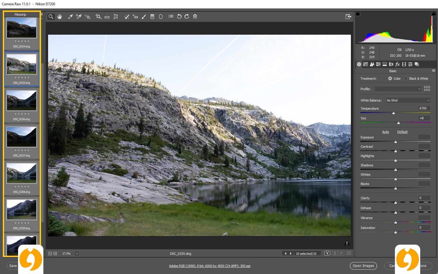نرم افزار Adobe Camera Raw