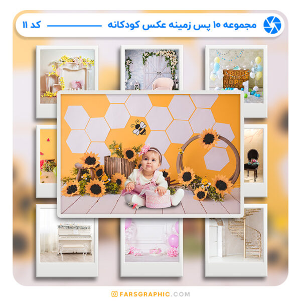 مجموعه 10 پس زمینه عکس کودکانه - کد 11